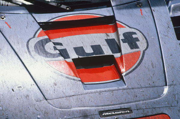 1997 Le Mans 24 hours. Le Mans, France. 14th - 15th June 1997. Pierre-Henri Raphanel / Jean-Marc Gounon / Anders Olofsson (McLaren F1 GTR), 2nd overall and 1st in Class, action. World Copyright: LAT Photographic.