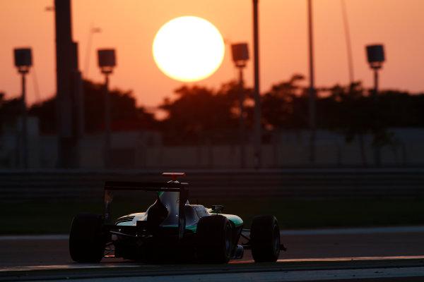 2014 GP3 Series Test 3.   Yas Marina Circuit, Abu Dhabi, United Arab Emirates. Saturday 29 November 2014. Gustavo Menezes (USA, Status Grand Prix)  Photo: Sam Bloxham/GP3 Series Media Service. ref: Digital Image _14P3019