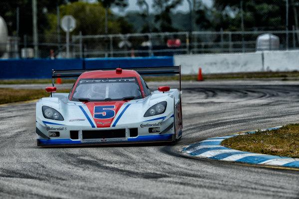 16-17 November, 2013, Sebring, Florida #5 Action Express Racing Corvette DP driven by Joao Barbosa and Christian Fittipaldi. @2013 Richard Dole LAT Photo USA