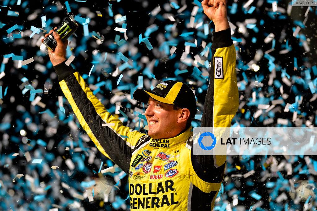 September 13, 2013, Joliet, Illinois  USA Kyle Busch celebrates in Victory Lane © 2013, Brian Czobat LAT Photo USA