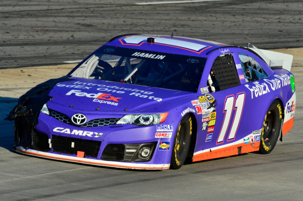 October 25-27, 2013, Martinsville, Virginia USA Denny Hamlin, FedEx One Rate Toyota Camry car © 2013, Brian Czobat LAT Photo USA