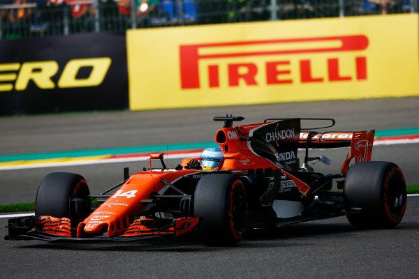 Spa Francorchamps, Belgium.  Saturday 26 August 2017. Fernando Alonso, McLaren MCL32 Honda.  World Copyright: Andy Hone/LAT Images  ref: Digital Image _ONZ9961