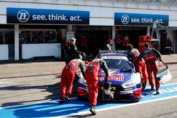 2017 DTM Round 9  Hockenheimring, Germany  Sunday 15 October 2017. Mattias Ekström, Audi Sport Team Abt Sportsline, Audi A5 DTM  World Copyright: Alexander Trienitz/LAT Images ref: Digital Image 2017-DTM-HH2-AT1-0528
