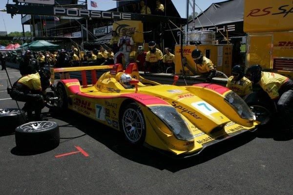 Romain Dumas (FRA) Penske Motorsports Porsche RS Spyder. American Le Mans Series, Rd3, Mid-Ohio, USA, 21 May 2006. DIGITAL IMAGE