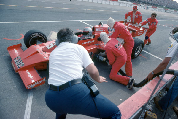 1976 USAC Indycar Series.Pocono, California, USA. 27th June 1976.Mario Andretti (McLaren-Offenhauser), 5th position.World Copyright: Murenbeeld/LAT Photographic