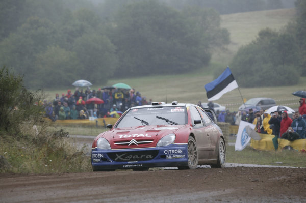 2004 FIA World Rally Champs. Round ten, OMV Deutschland Rally.19th - 22nd August 2004.Sebastien Loeb, Citroen, action.World Copyright: McKlein/LAT