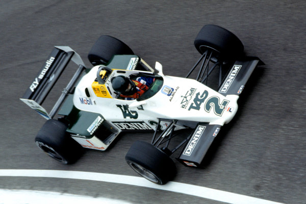 1983 Italian Grand Prix.Monza, Italy. 11 September 1983.Jacques Laffite (Williams FW08C-Ford Cosworth).World Copyright:LAT Photographic