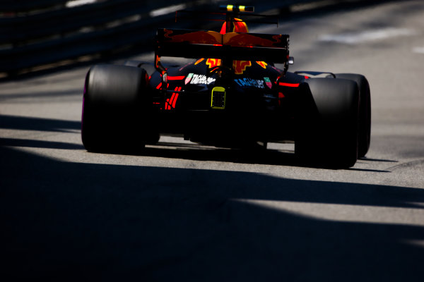 Monte Carlo, Monaco. Saturday 27 May 2017. Max Verstappen, Red Bull Racing RB13 TAG Heuer.  World Copyright: Charles Coates/LAT Images ref: Digital Image AN7T7404