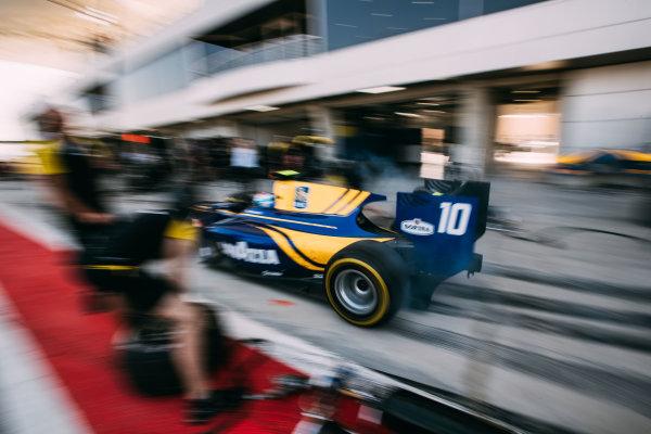 Bahrain International Circuit, Sakhir, Bahrain. Friday 31 March 2017 Nicholas Latifi (CAN) DAMS  Photo: Malcolm Griffiths/FIA Formula 2 ref: Digital Image MALC1667