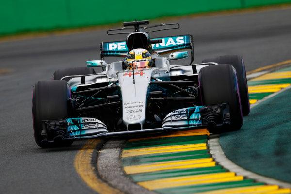 Albert Park, Melbourne, Australia. Saturday 25 March 2017. Lewis Hamilton, Mercedes F1 W08 EQ Power+.  World Copyright: Steven Tee/LAT Images ref: Digital Image _R3I0259