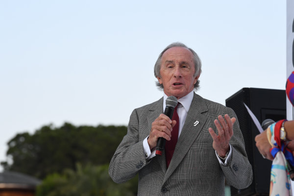Monte Carlo, Monaco. Friday 26 May 2017. Jackie Stewart (GBR) at the Amber Lounge Fashion Show, Le Meridien Beach Plaza Hotel, Monaco World Copyright: Mark Sutton/Sutton/LAT Images ref: Digital Image dcd1727my332