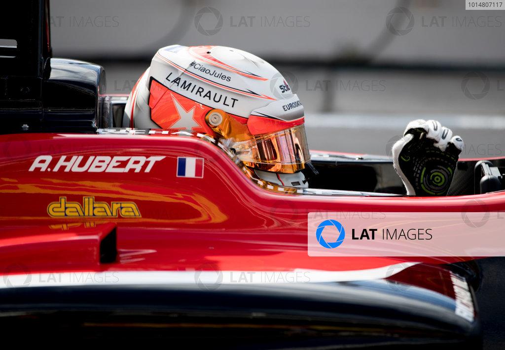2017 GP3 Series Round 1.  Circuit de Catalunya, Barcelona, Spain. Saturday 13 May 2017. Anthoine Hubert (FRA, ART Grand Prix)  Photo: Jed Leicester/GP3 Series Media Service. ref: Digital Image JL2_0424