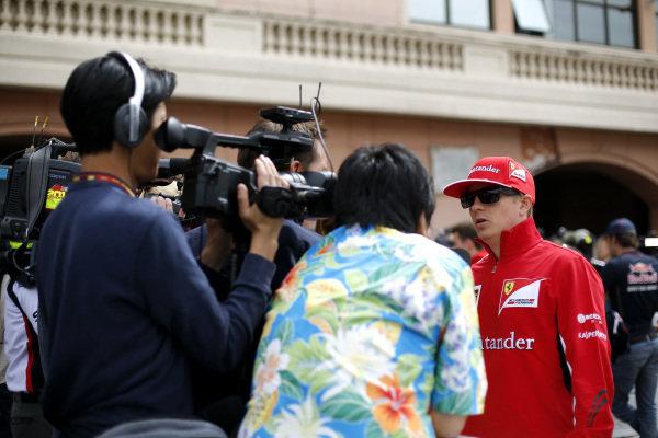 Kimi Raikkonen (FIN) Ferrari. Formula One World Championship, Rd6, Monaco Grand Prix, Preparations, Monte-Carlo, Monaco, Wednesday 21 May 2014.
