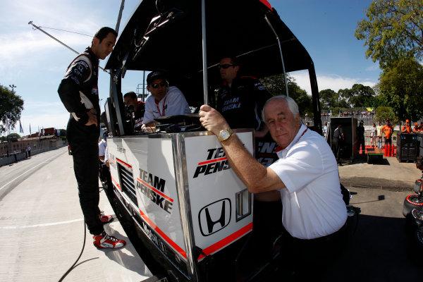 13-14 March, 2010, Sao Paulo, BrazilHelio Castroneves, Tim Cindric, and Roger Penske©2010, Michael L. Levitt, USALAT Photographic