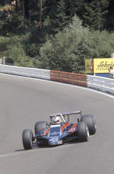 1980 Austrian Grand Prix.Osterreichring, Zeltweg, Austria. 15-17 August 1980.Nigel Mansell (Lotus 81B-Ford Cosworth), retired.World Copyright: LAT PhotographicRef: 35mm transparency 80AUT06