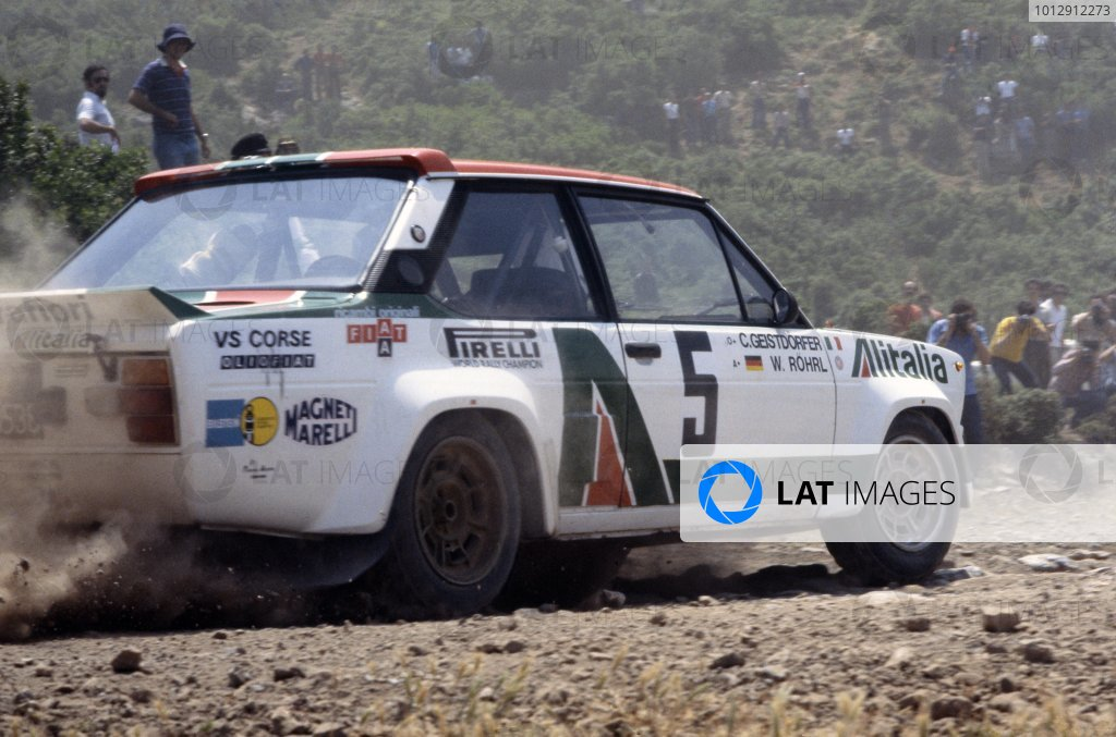 1978 World Rally Championship.Acropolis Rally, Greece. 29 May-2 June 1978.Walter Rohrl/Christian Geistdorfer (Fiat 131 Abarth), 1st position.World Copyright: LAT PhotographicRef: 35mm transparency 78RALLY05