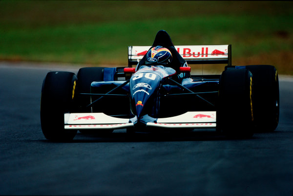 Interlagos, Sao Paulo, Brazil.24-26 March 1995.Heinz-Harald Frentzen (Sauber C14 Ford). He exited from the race with electrical problems.Ref-95 BRA 21.World Copyright - LAT Photographic