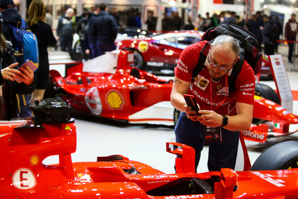 Autosport International Exhibition. National Exhibition Centre, Birmingham, UK. Sunday 14th January 2018. The Ferrari stand.World Copyright: Mike Hoyer/JEP/LAT Images Ref: MDH19887