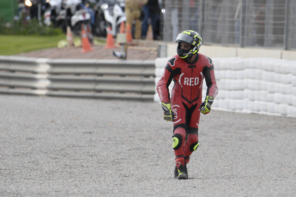 Andrea Iannone, Aprilia Racing Team Gresini after his crash