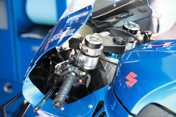 Team Suzuki MotoGP, bike detail.