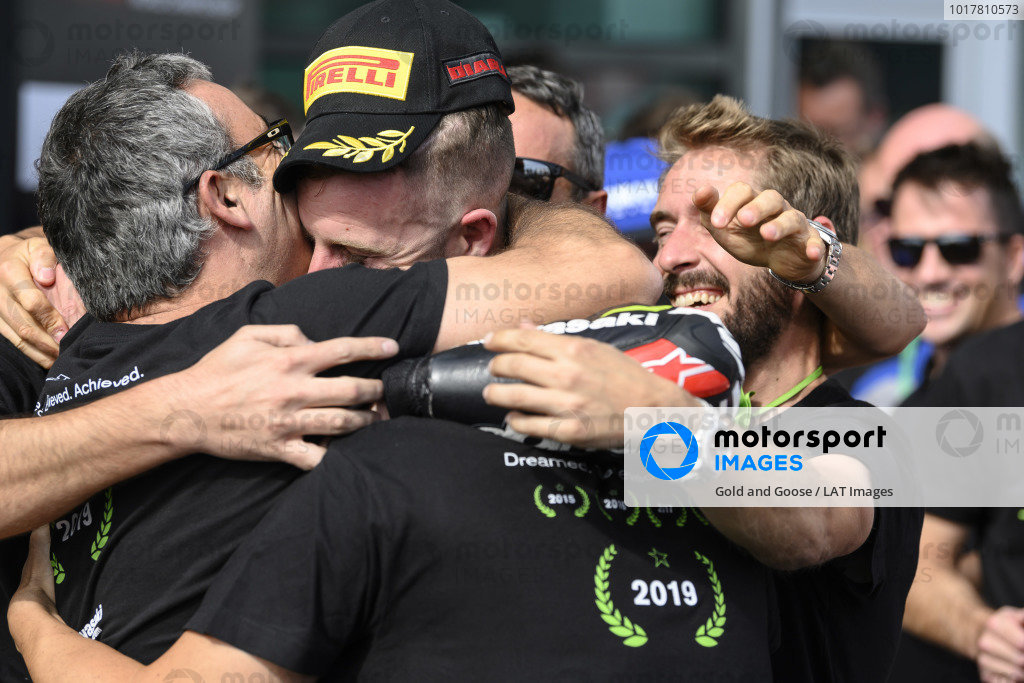 Jonathan Rea, Kawasaki Racing Team celebrates his 5th world title.