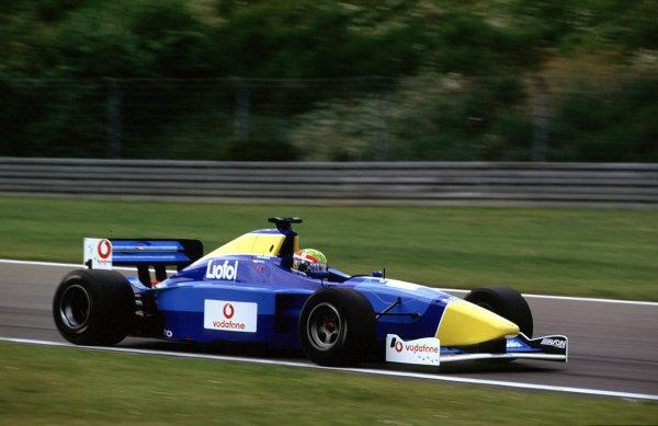 2001 International F3000Nurburgring, Germany. 22nd - 23rd June 2001.Mark Webber ( Super Nova), 2nd position.World Copyright: Charles Coates/LAT Photographicref: 35mm Image A07
