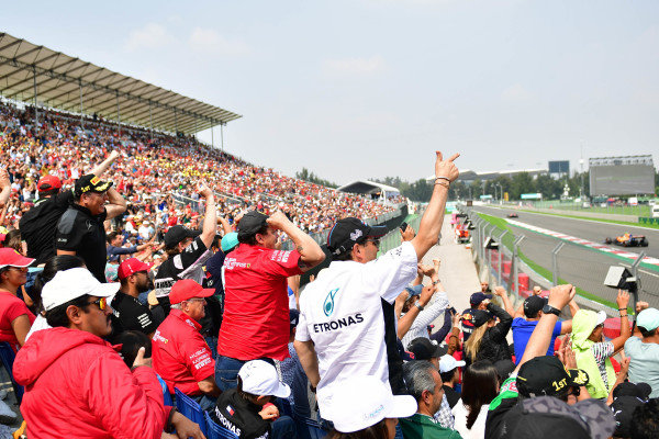 The fans pack out the grandstands on race day