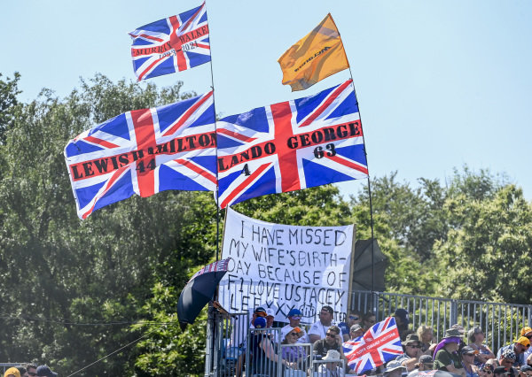 Crowd support for Sir Lewis Hamilton, Mercedes