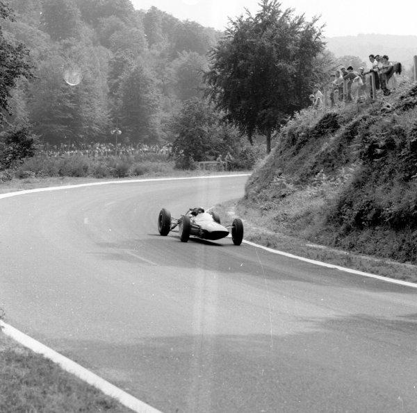 1962 French Grand Prix.Rouen-les-Essarts, France.6-8 July 1962.Jim Clark (Lotus 25 Climax).Ref-14513.World Copyright - LAT Photographic