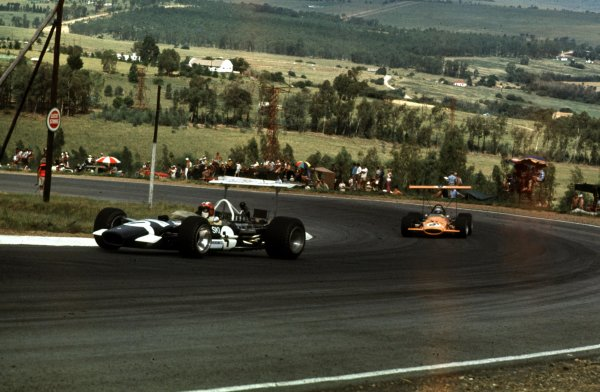 1969 South African Grand Prix.Kyalami, South Africa.27/2-1/3 1969.Jo Siffert (Lotus 49B Ford) 4th position.Ref-69 SA 04.World Copyright - LAT Photographic