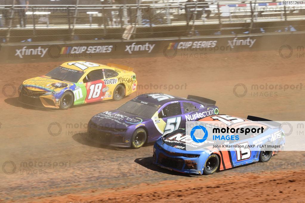 #15: Chris Windom, Rick Ware Racing, Chevrolet Camaro NOS Energy Drink, #51: Cody Ware, Petty Ware Racing, Chevrolet Camaro NURTEC ODT, #18: Kyle Busch, Joe Gibbs Racing, Toyota Camry M&M's Messages