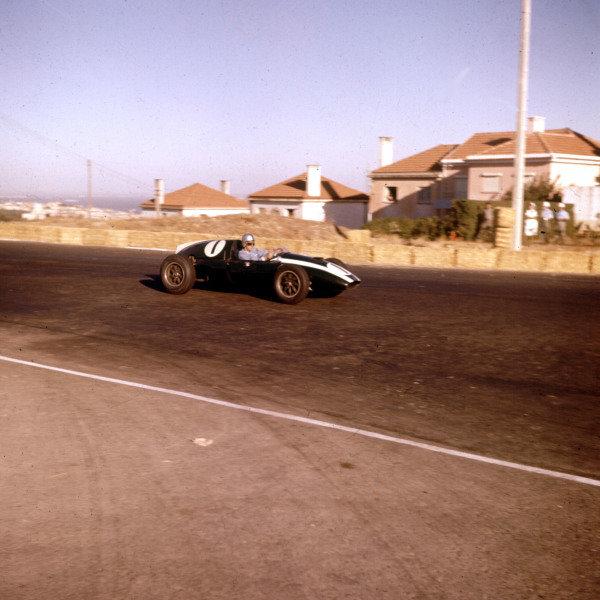 1959 Portuguese Grand Prix.Monsanto, Lisbon, Portugal.21-23 August 1959.Jack Brabham (Cooper T51 Climax).Ref-3/0108.World Copyright - LAT Photographic