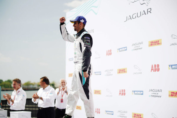 Bandar Alesayi (SAU), Saudi Racing, 3rd position, celebrates on the podium