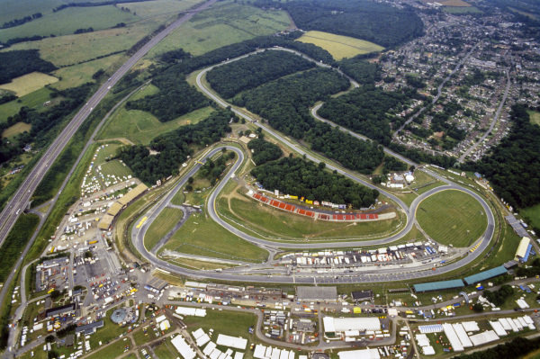 An aerial view of the Brands Hatch grand prix circuit.