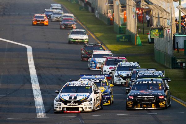 James Courtney, Walkinshaw Andretti United, Holden, battles with Nick Percat, Brad Jones Racing, Holden