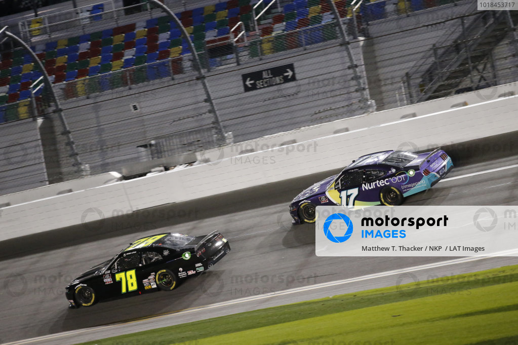 #17: Cody Ware, SS Green Light Racing, Chevrolet Camaro #78: Jesse Little, B.J. McLeod Motorsports, Chevrolet Camaro
