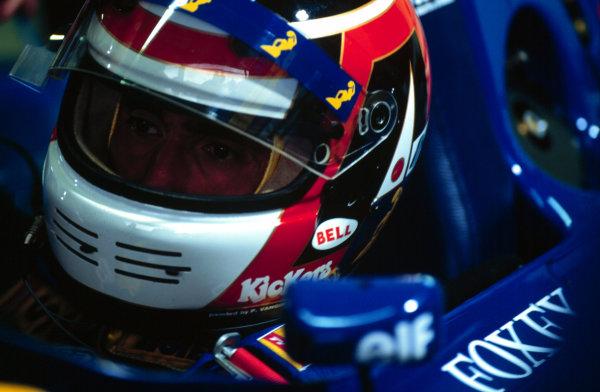 1995 German Grand Prix.Hockenheim, Germany.28-30 July 1995.Aguri Suzuki (Ligier JS41 Mugen-Honda) 6th position.World Copyright - LAT Photographic