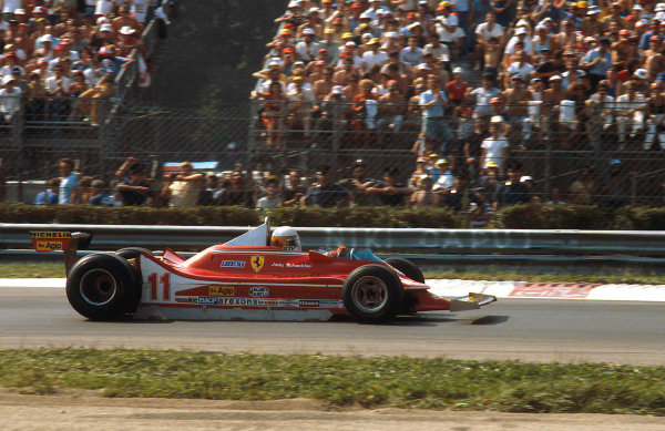 1979 Italian Grand Prix.Monza, Italy.7-9 September 1979.Jody Scheckter (Ferrari 312T4) 1st position.Ref-79 ITA 10.World Copyright - LAT Photographic