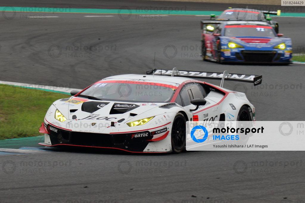 GT300 2nd position Takashi Kogure & Yuya Motojima ( #88 JLOC LAMBORGHINI GT3 ) action