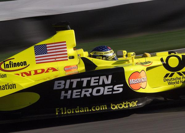 2001 American Grand Prix - QualifyingIndianapolis, United States. 29th September 2001.Jean Alesi, Prost Acer AP04 action.World Copyright: Steve Etherington/LAT Photographicref: 18mb Digital Image