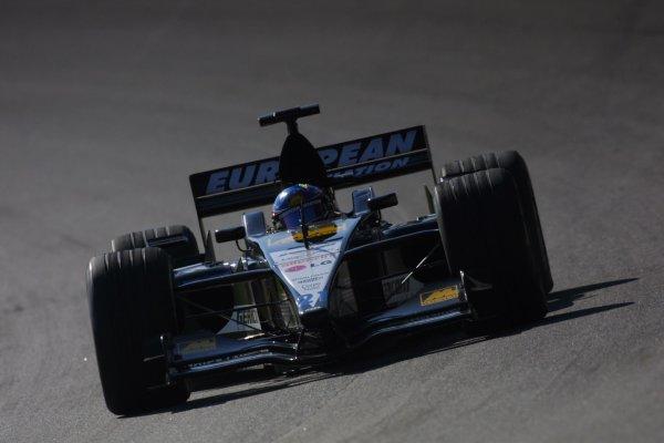 2001 American Grand Prix - Saturday / QualifyingIndianapolis Motor Speedway, Indianapolis. America. 29th September 2001Fernando Alonso, European Minardi PS01 action.World Copyright - LAT Photographicref: 8 9 MB Digital