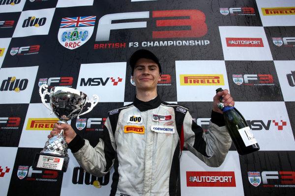2016 BRDC British Formula 3 Championship, Brands Hatch, Kent. 16th - 17th April 2016. Colton Herta (USA) Carlin BRDC F3. World Copyright: Ebrey / LAT Photographic.