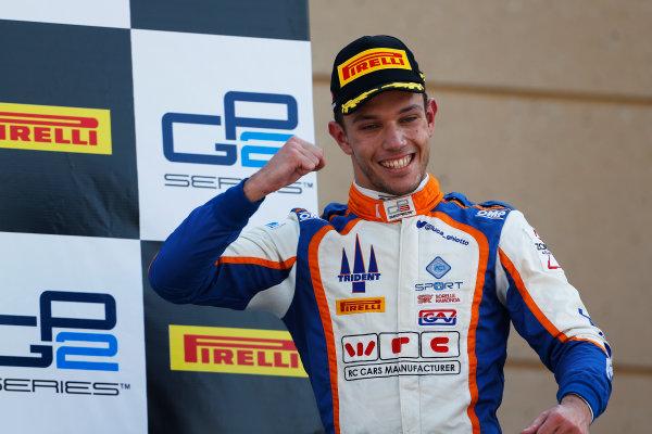 2015 GP3 Series Round 8. Bahrain International Circuit, Bahrain Saturday 21 November 2015. Luca Ghiotto (ITA, Trident)  Photo: Sam Bloxham/GP3 Series Media Service. ref: Digital Image _SBL4902