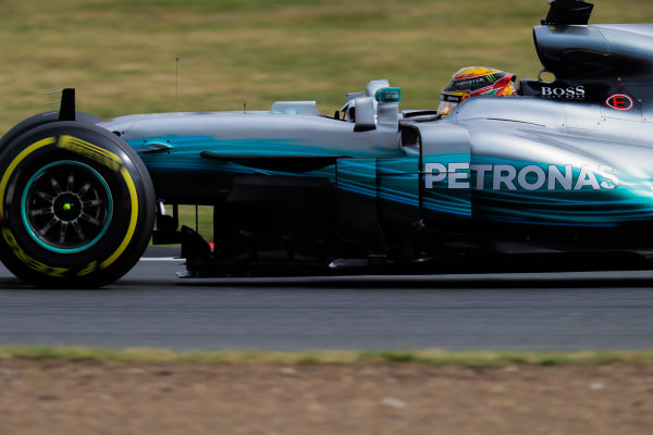 Silverstone, Northamptonshire, UK.  Friday 14 July 2017. Lewis Hamilton, Mercedes F1 W08 EQ Power+. World Copyright: Zak Mauger/LAT Images  ref: Digital Image _56I8588