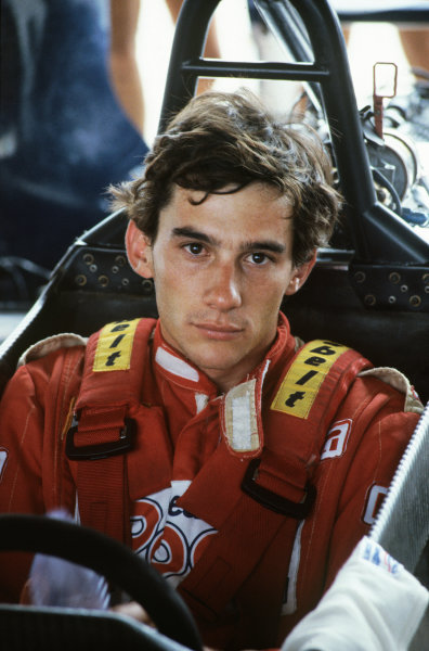 Ayrton Senna (Ralt RT3 Toyota), portrait. Ref - S1B 18. World Copyright: LAT Photographic