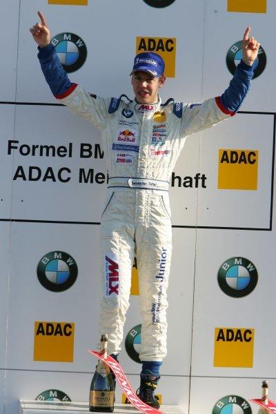 Race 2 winner and 2004 champion Sebastian Vettel (GER), ADAC Berlin Brandenburg e.V.Formula BMW ADAC Championship 2004, Rd9 Race 2, Brno, Czech Republic. 19 September 2004. DIGITAL IMAGE