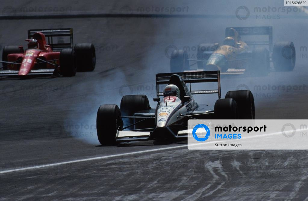 Stefano Modena (ITA) Tyrrell 020, 11th place. Mexican Grand Prix, Mexico City, 16 June 1991