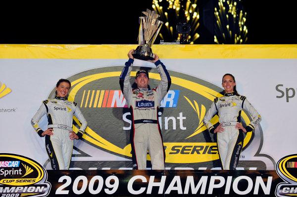 20-22 November, 2009, Homestead, Florida, USAJimmie Johnson in Championship Victory Lane.©2009, LAT South, USALAT Photographic