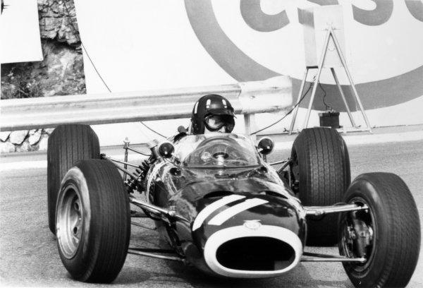 1966 Monaco Grand Prix.Monte Carlo, Monaco. 22 May 1966.Graham Hill, BRM P261, 3rd position, action.World Copyright: LAT PhotographicRef: L66/300/8