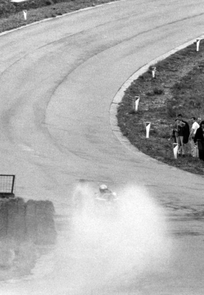 1966 Belgian Grand Prix.Spa-Francorchamps, Belgium. 12 June 1966.Eau Rouge in the rain and mist, action, atmosphere.World Copyright: LAT PhotographicRef: b&w print